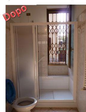 Trasformazione della vasca in doccia novabad azienda - Soluzioni doccia finestra ...